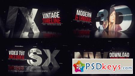 Vintage Timeline Title 22861082 After Effects Template