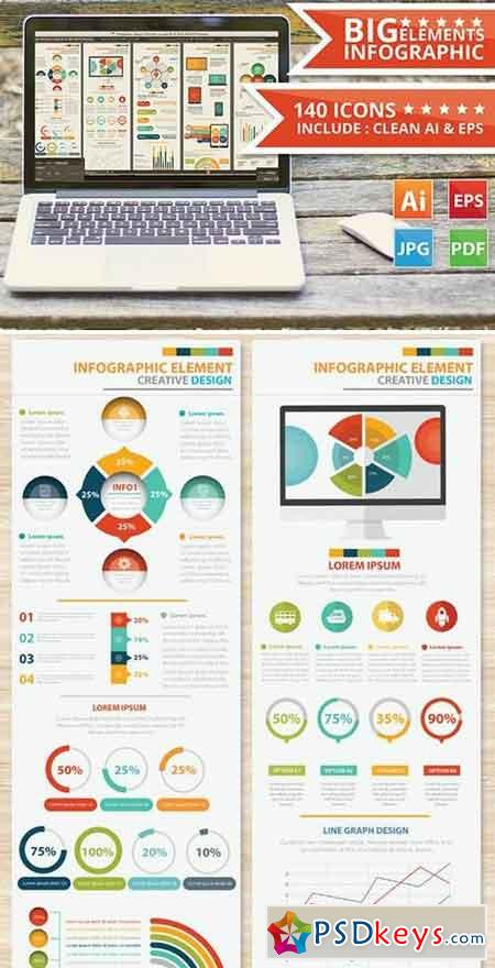 Big Infographic Elements Design 2
