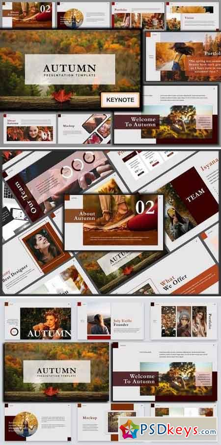 Autumn Stylish Lookbook Keynote Template