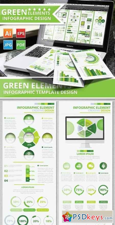 Green Infographic Elements Design