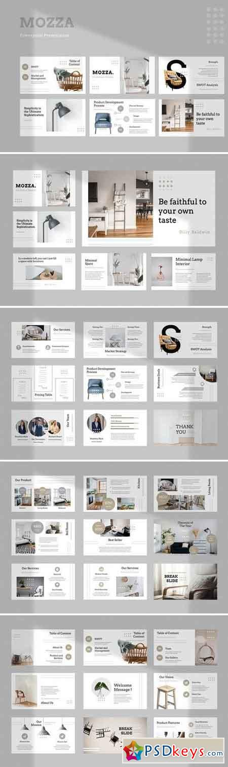 Mozza Furniture - Powerpoint, Keynote, Google Sliders Templates
