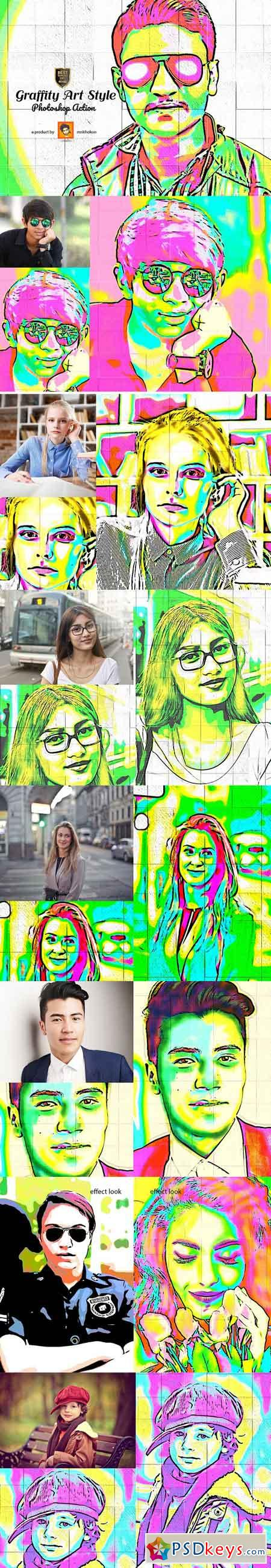 Graffity Art Style Photoshop Action 3072169