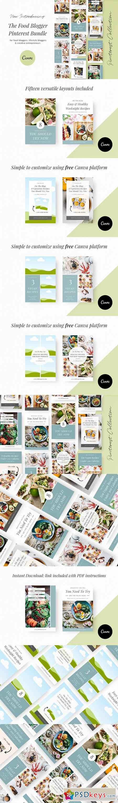 Food Blogger Pinterest Templates 3055057