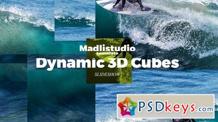 Dynamic 3D Cubes Slideshow 22466423 After Effects Template