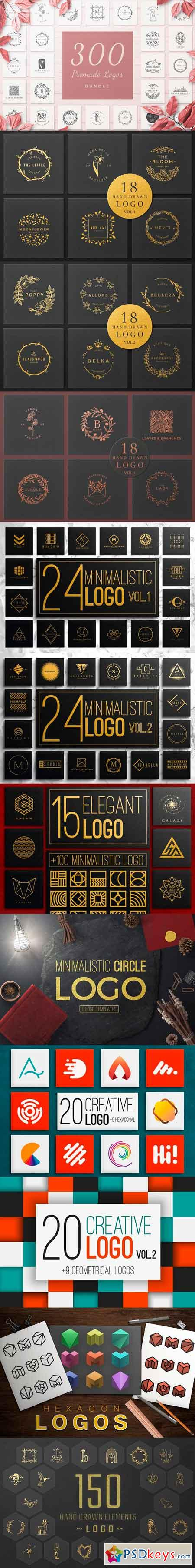 300 Premade Logos Bundle 2871116