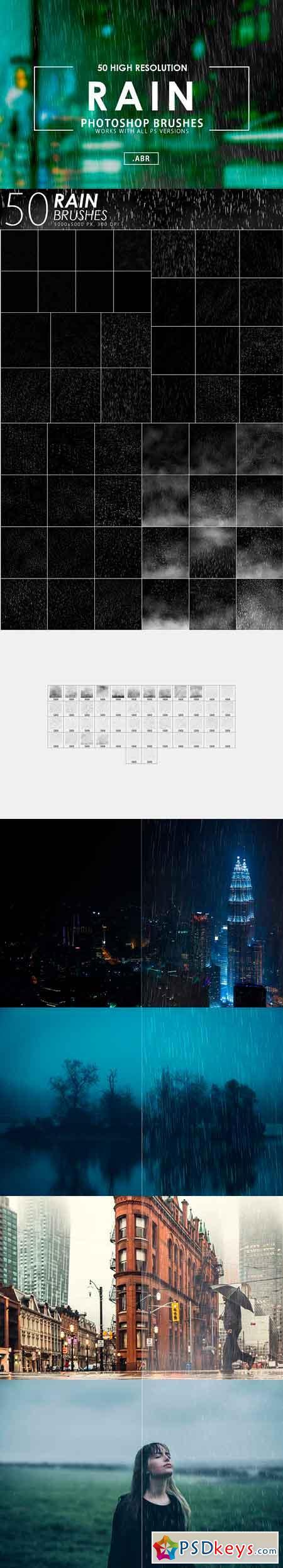 PHOTOSHOP CS6 RAIN BRUSHES PACK FREE DOWNLOAD - Rain