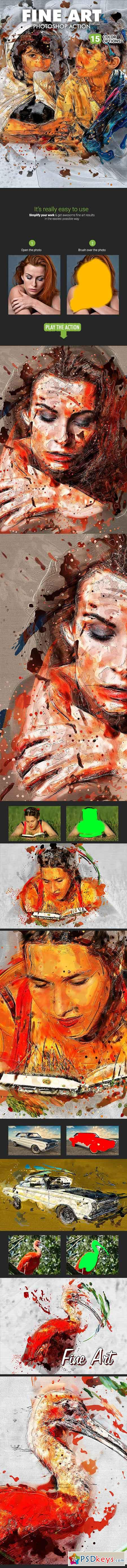 Fine Art Photoshop Action 19511595