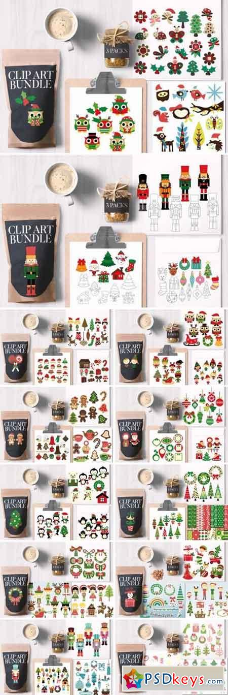 Christmas Clipart Big Bundle