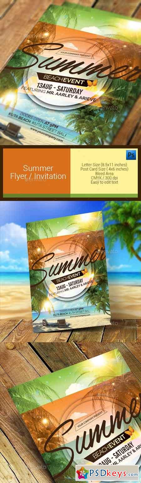 Summer Event Flyer Invitation 11286637