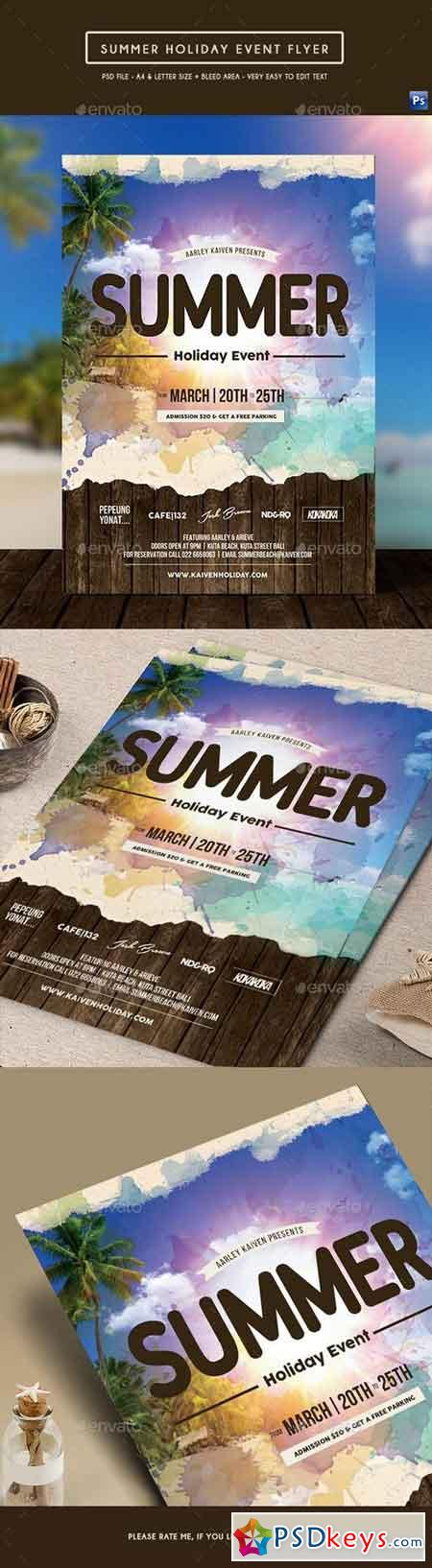 Summer Holiday Event Flyer 17373420