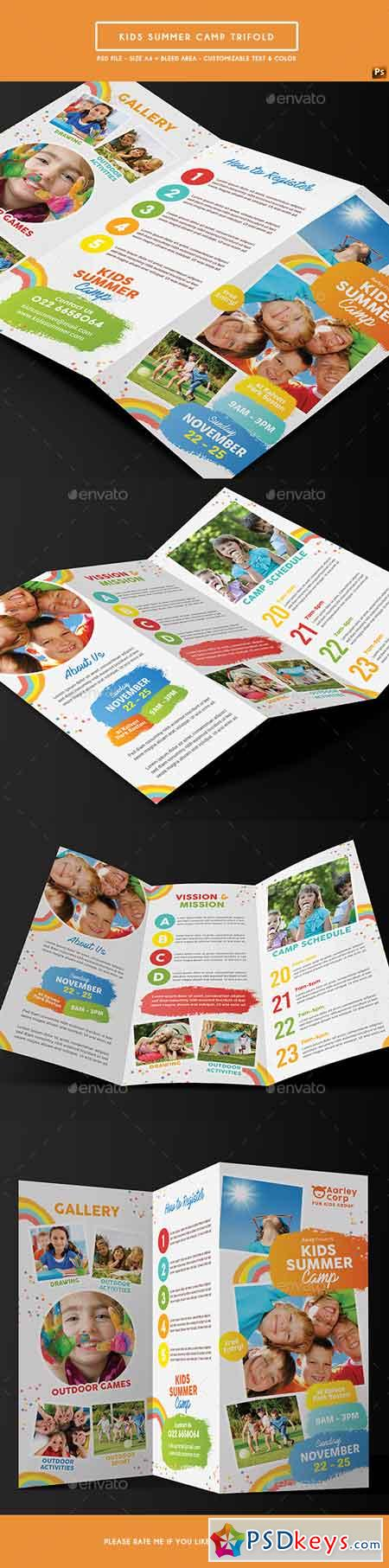 Kids Summer Camp Trifold 19733768