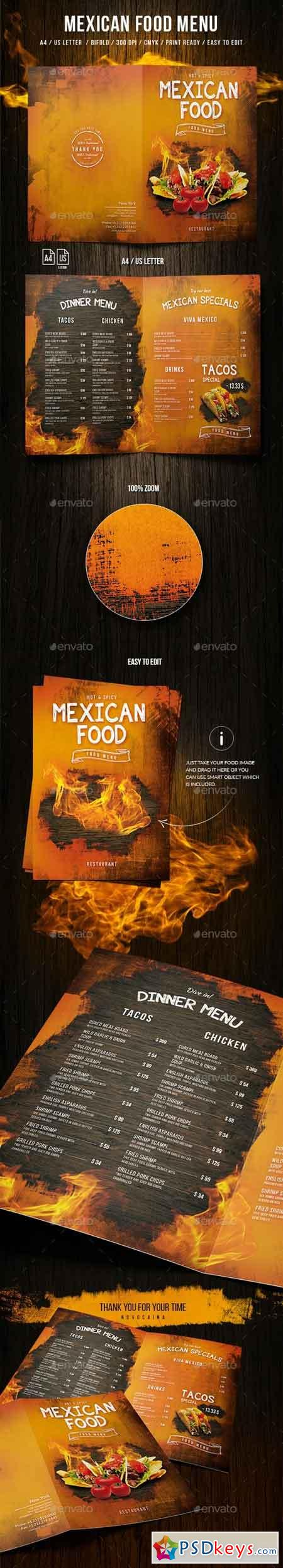 Mexican A4 and US Letter Food Menu 20000112