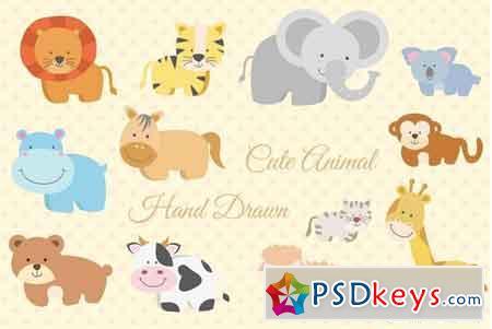 12 Animal Hand Drawn 2619077