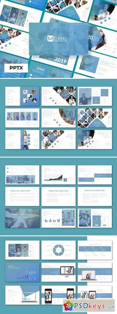 mdrnl business 2019 - Powerpoint, Keynote, Google Sliders Templates