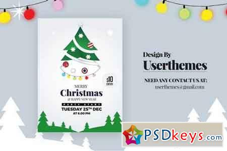 Christmas Party Sale Flyer Template