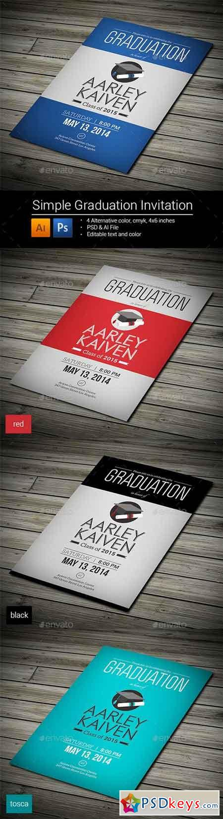 Simple Graduation Invitation 8993243