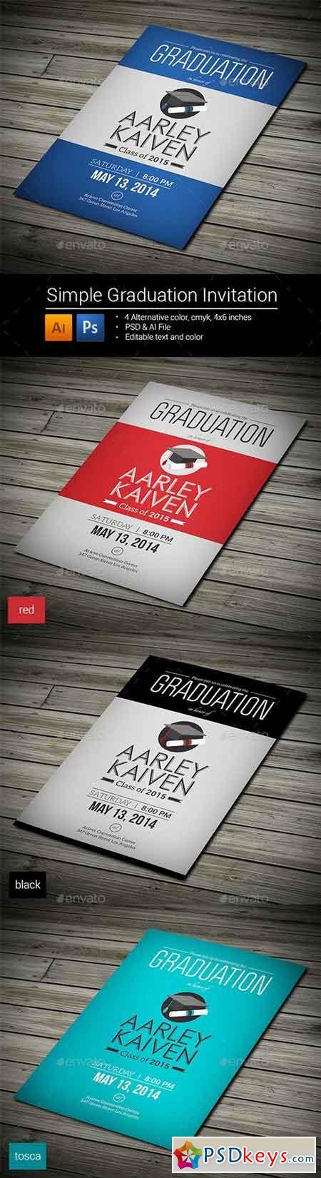 Simple Graduation Invitation 8993243