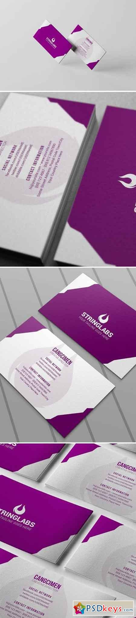 Purple Corporate - Business Card Template