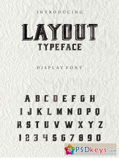 Layout - new display font