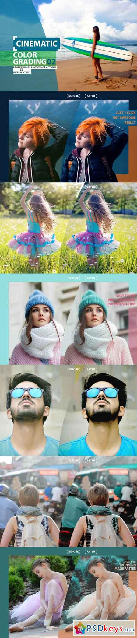 Cinematic Color Grading 02 Premium Photoshop Actions 3505488