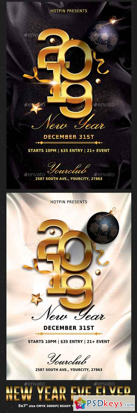 Classy New Year Party Flyer 22802443
