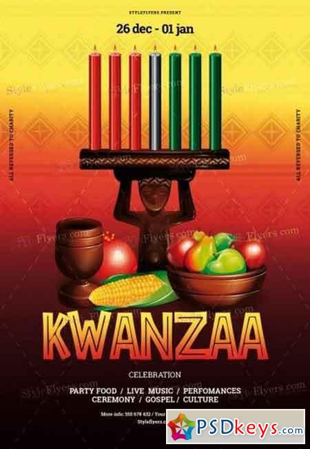 Kwanzaa PSD Flyer Template