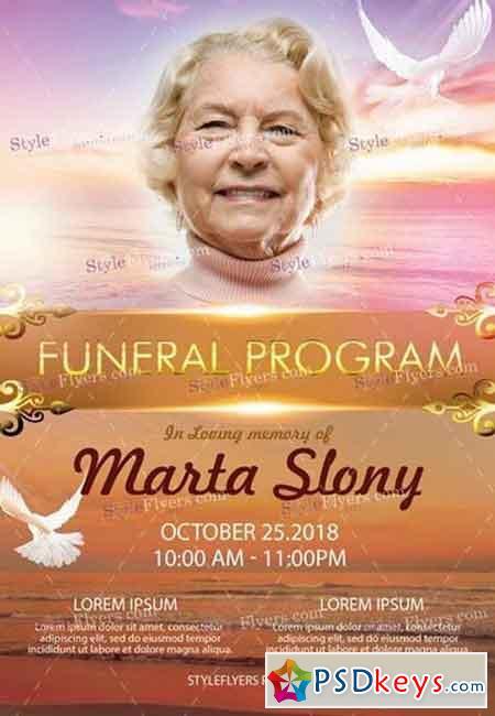 Funeral Program PSD Flyer Template