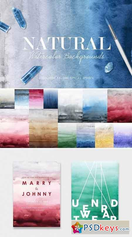Natural Watercolor Ombre Backgrounds 2924705