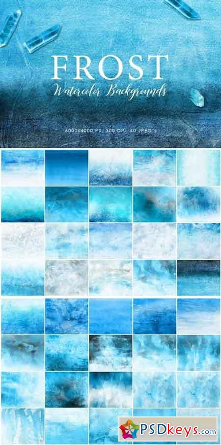 Frost Watercolor Backgrounds
