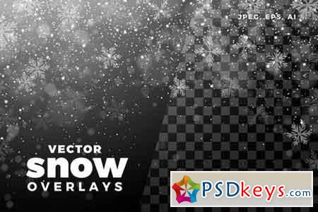 Vector Snow Overlay Collection