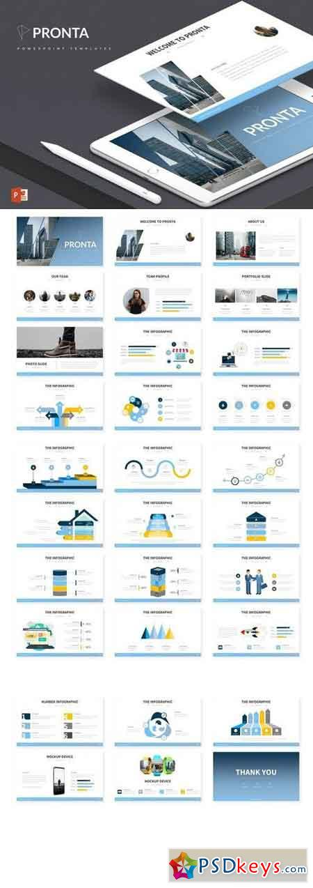 Pronta - Powerpoint, Keynote, Google Sliders Templates