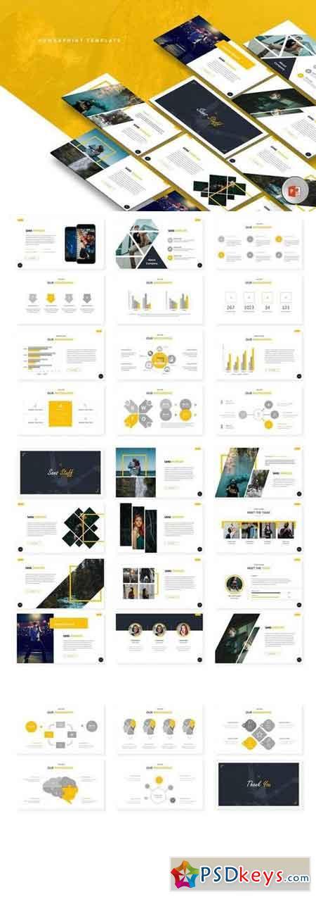 San Stuff - Powerpoint, Keynote, Google Sliders Templates