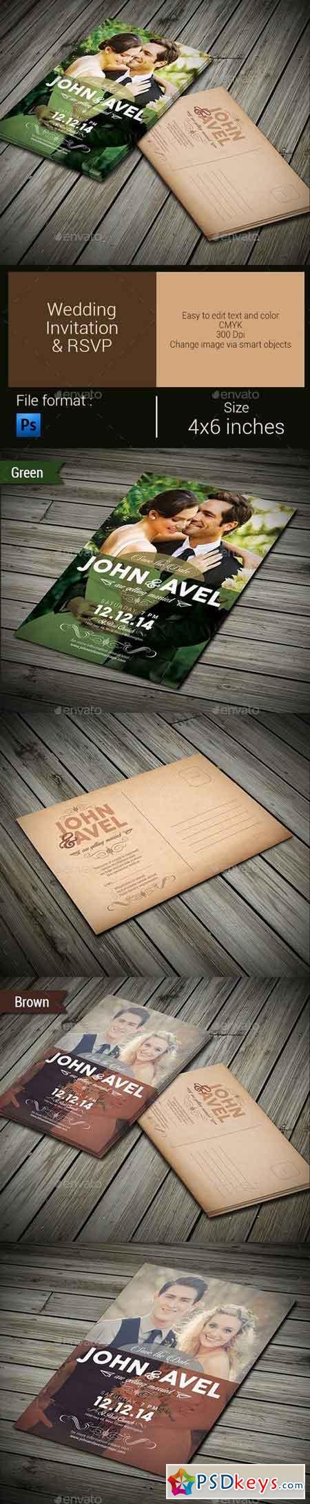 Wedding Invitation & RSVP 9665213