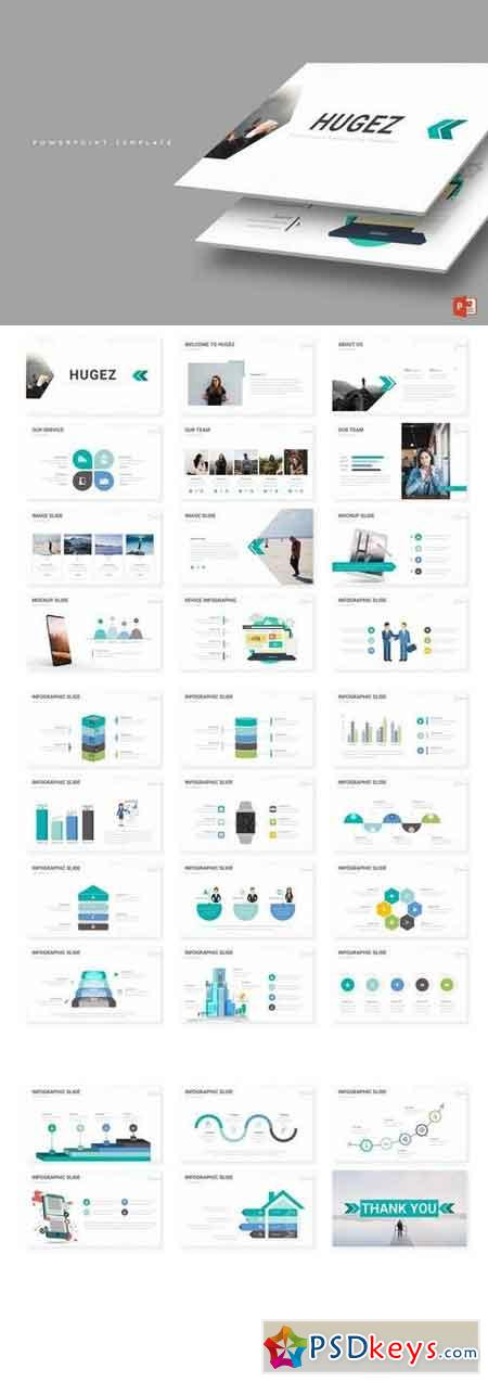 Hugez - Powerpoint, Keynote, Google Sliders Templates