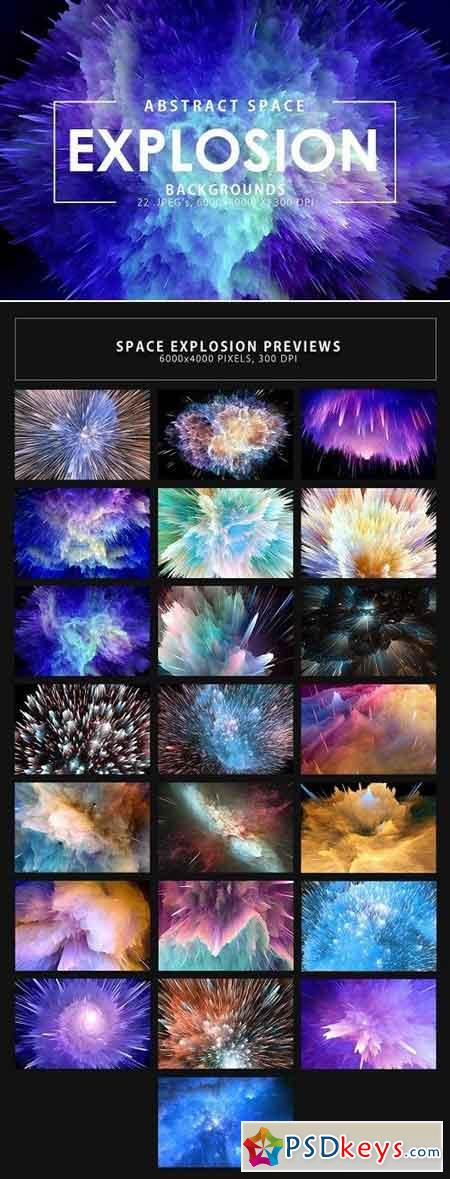 Space Explosion Backgrounds 2295724
