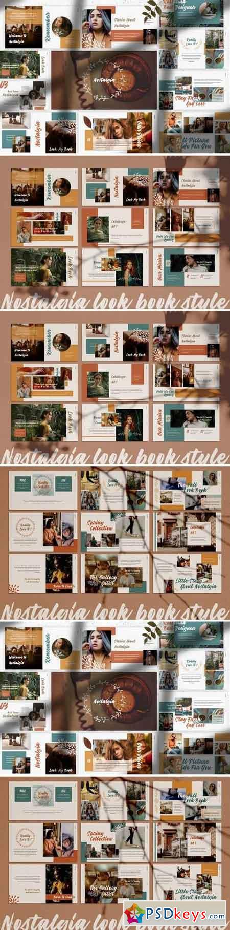 Nostalgia - Powerpoint, Keynote, Google Sliders Templates