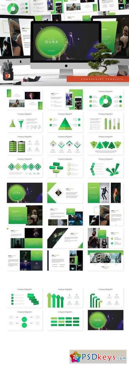 Oura - Powerpoint, Keynote, Google Sliders Templates