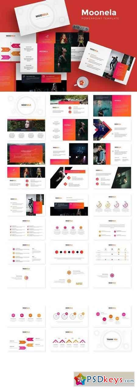 Moonela - Powerpoint, Keynote, Google Sliders Templates