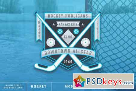 Winter Sport Series Hokey Logo Badge