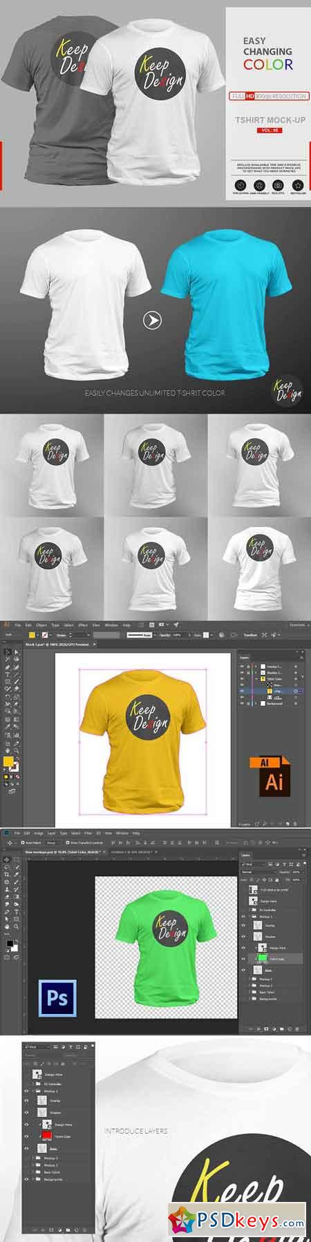 Realistic T-shirt Mock-up Vol 5 2793494