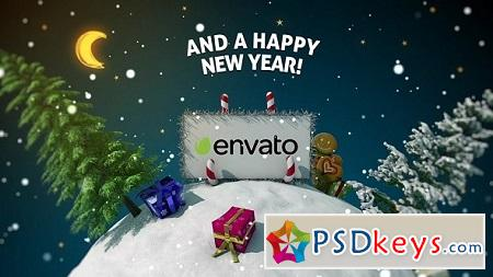 New Year Card 3D 18616946 After Effects Template