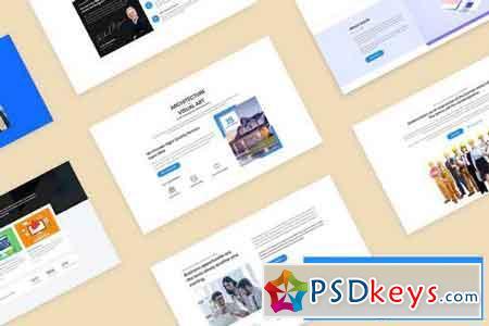 20 Descriptions Blocks Design for Web-UI Kit