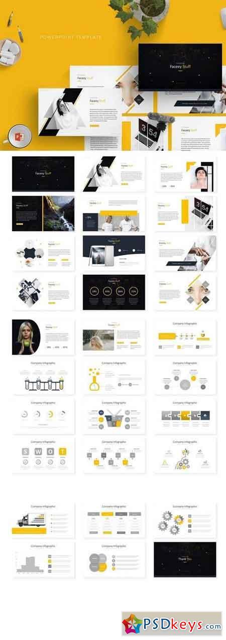 Faceey - Powerpoint, Keynote, Google Sliders Templates