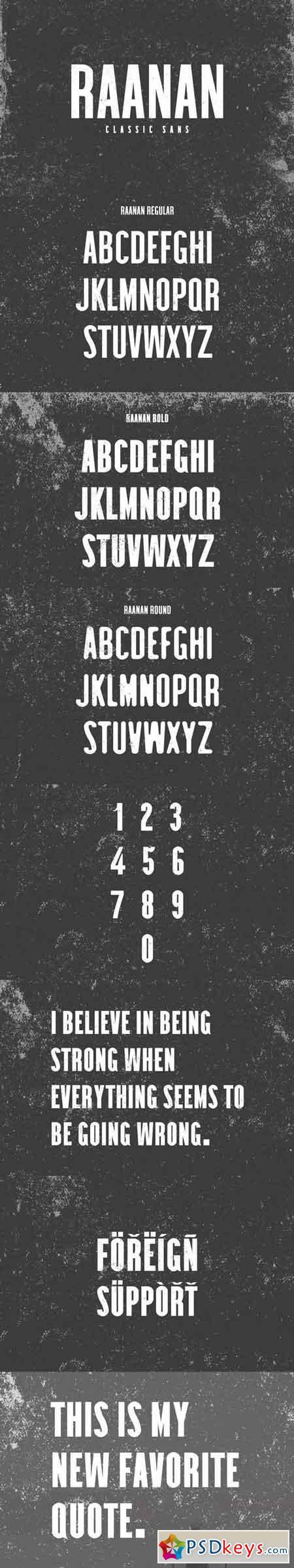 Raanan Classic Sans Serif Font Family 3188463