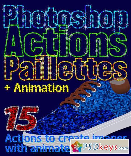 Paillettes Sequins Photoshop Actions 22730404