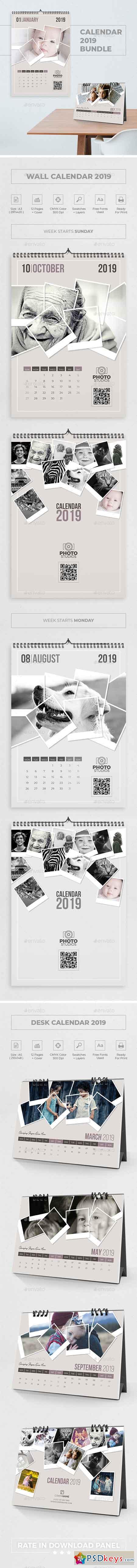 Calendar 2019 Polaroid Photo Bundle 4 22842432
