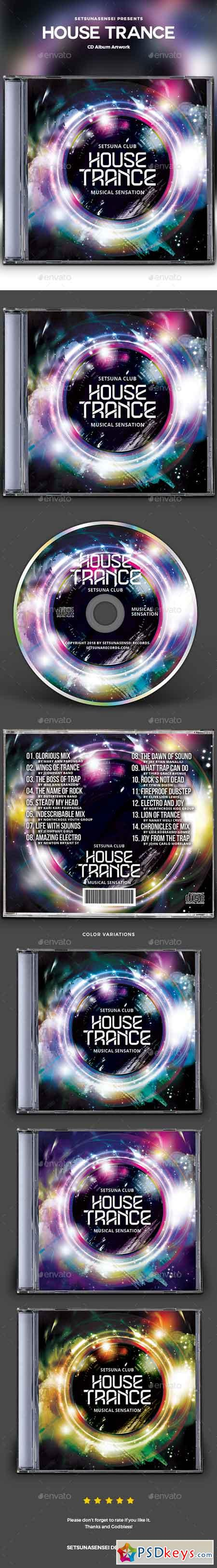 House Trance CD Album Artwork 22830517