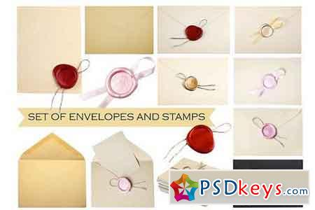 Old Envelopes and vintage wax seal 668639