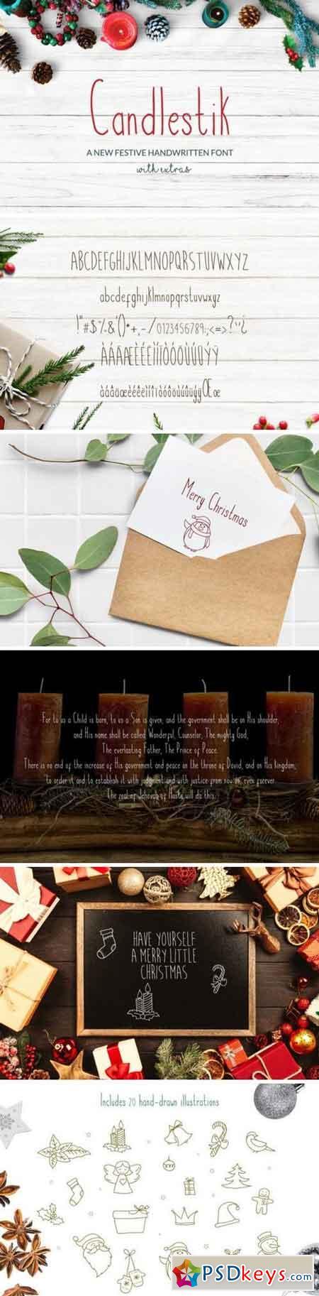 Candlestik Christmas Font & Extras 168943