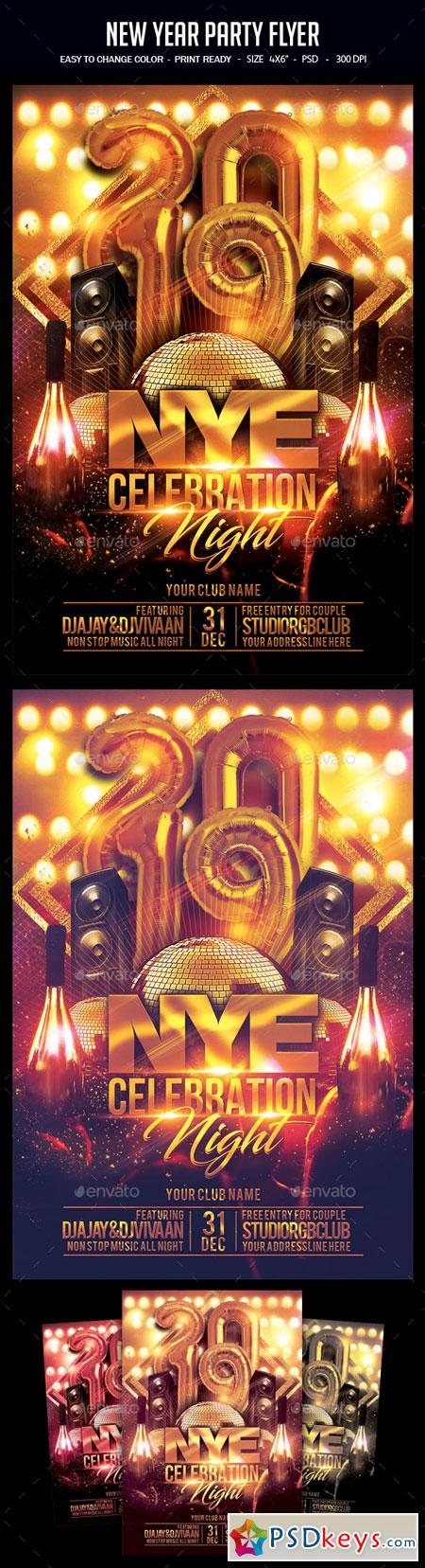 New Year Party Flyer 22827145